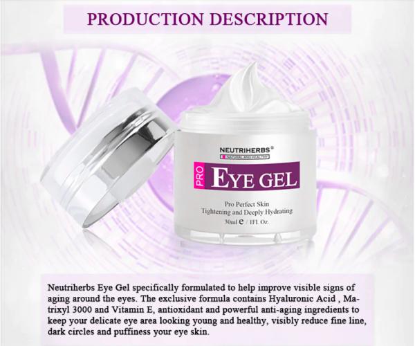 Neutriherbs 2 in 1 Eye Gel Cream 2.5% Retinol Face Cream Hyaluronic Acid Collagen Remove Dark Circles Anti-wrinkle Anti-aging