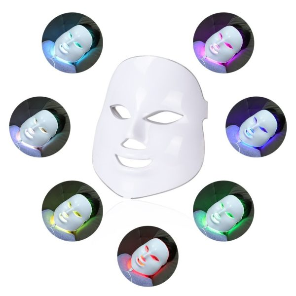 Led Facial Mask 7 Colors Light